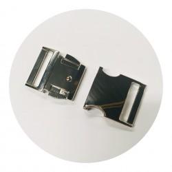 Boucle clips chromé 30mm
