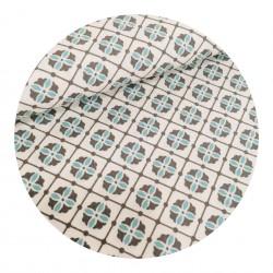 Tissu Coton Rosace